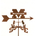 UM Michigan weather vane