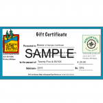 Gift Certificate (Free Shipping)