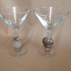 Petoskey Stone Martini Glass