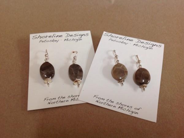 petoskey stone earrings