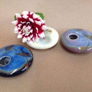 pottery ikebana vase