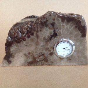 Petoskey Stone Clock