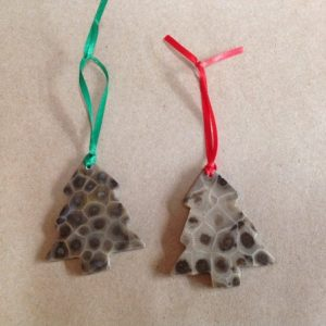 Petoskey stone tree ornament