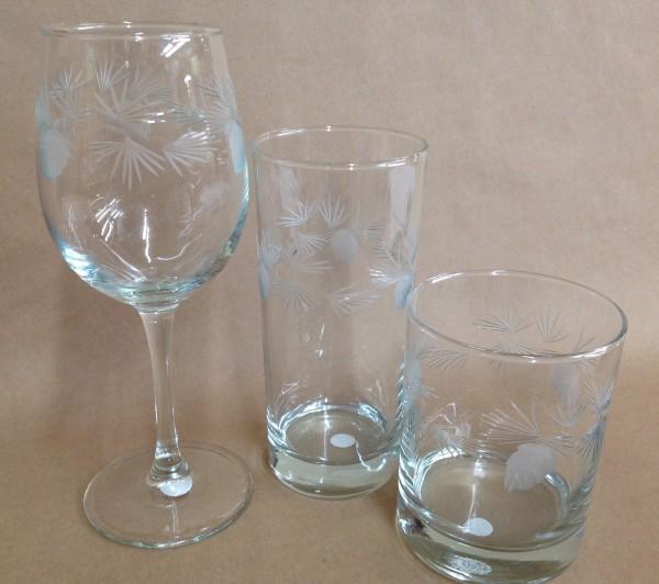 Pinecone Glassware