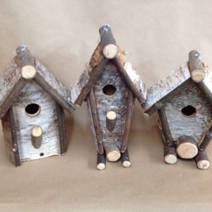 birch bark bird house