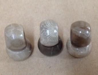 Petoskey stone bead