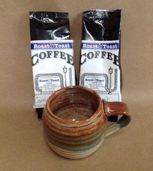 Mug with roast & toast coffee set