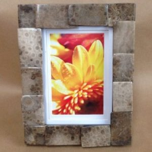 petoskey stone picture frame