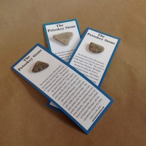 petoskey stone on card