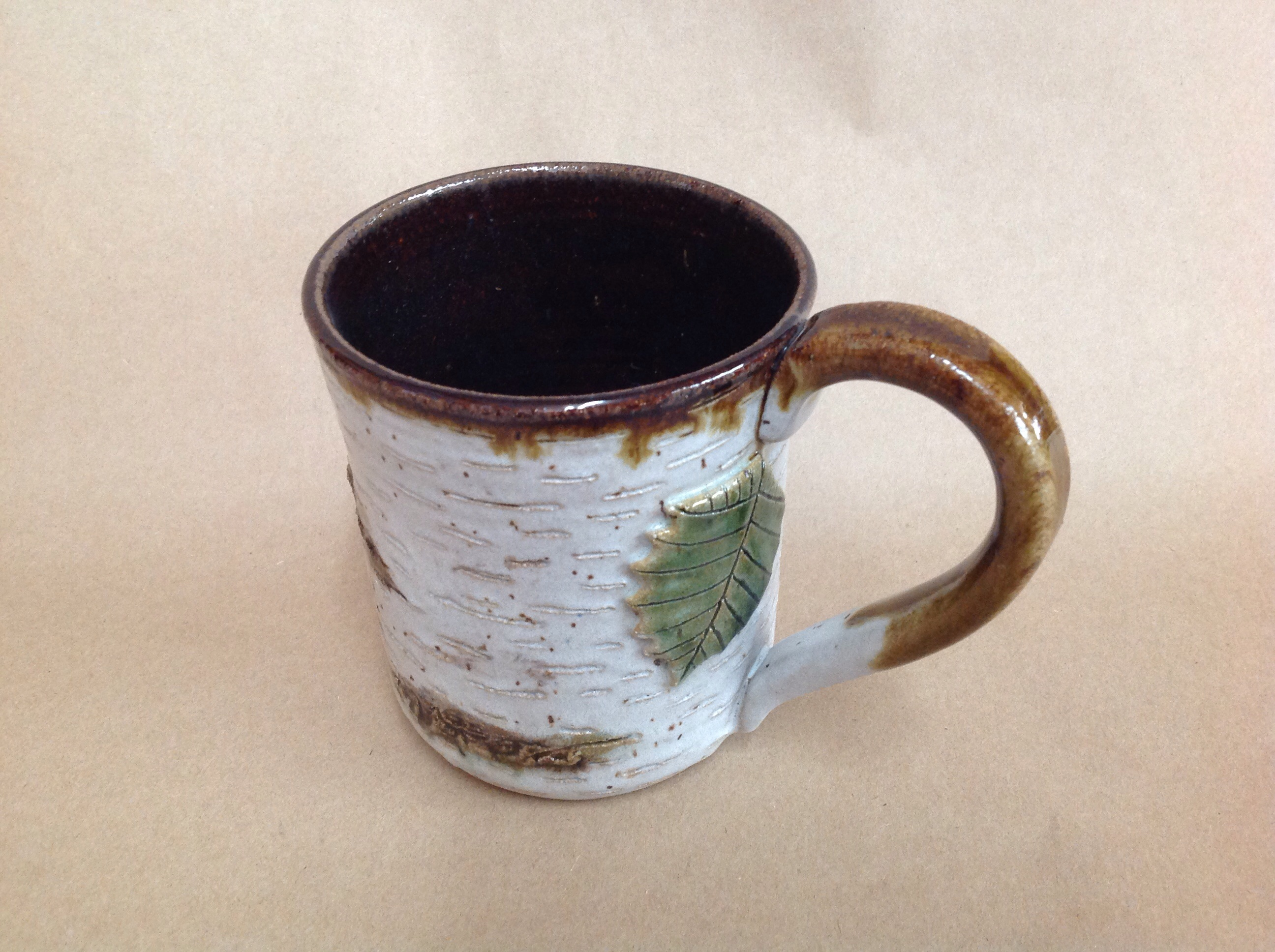 pottery Birch coffee cocoa mug