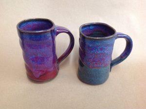 tall pottery coffee mug