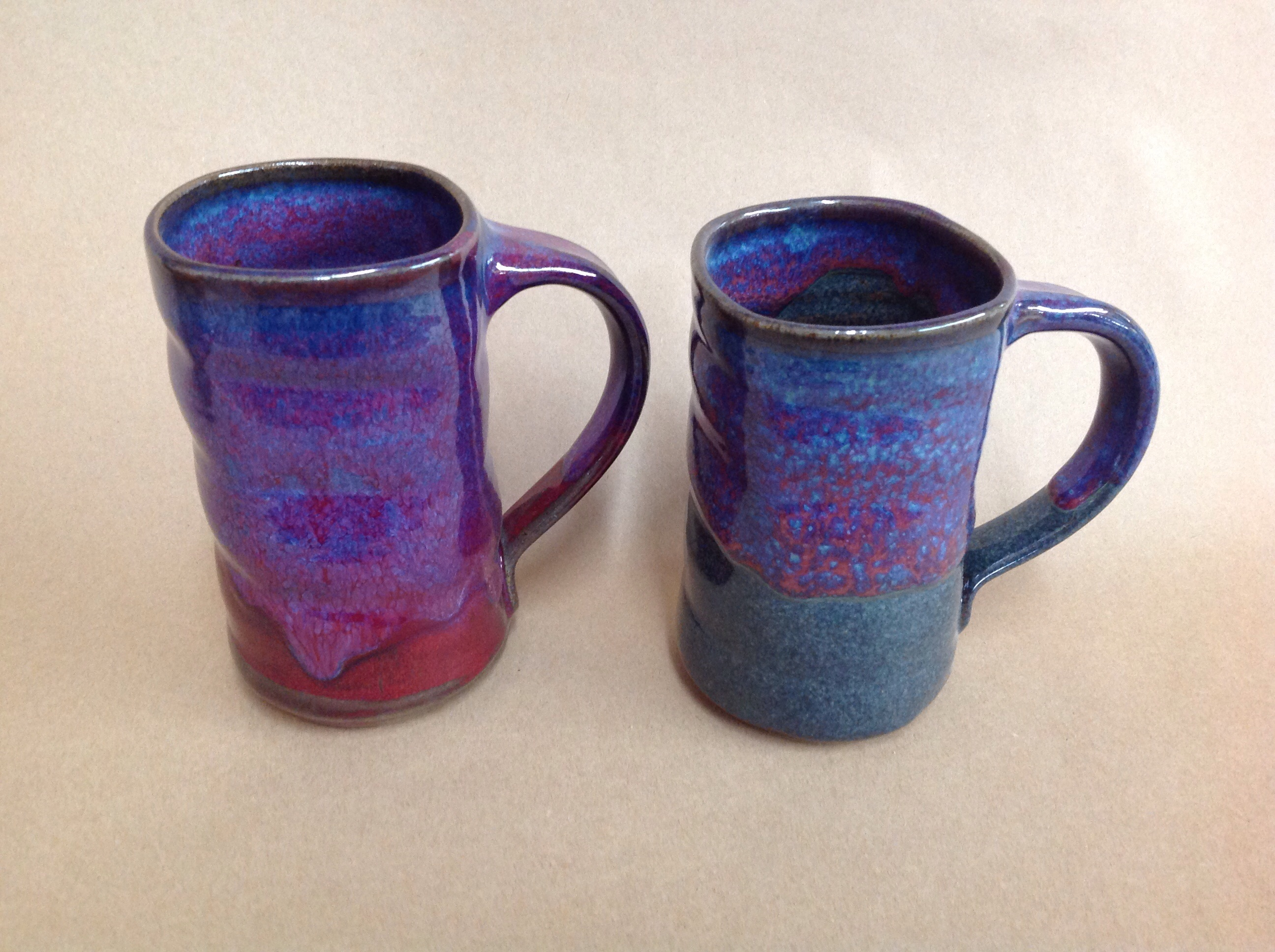 tall pottery coffee mug