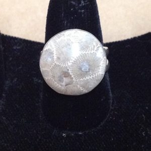 petoskey stone ring