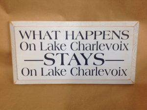 lake charlevoix sign