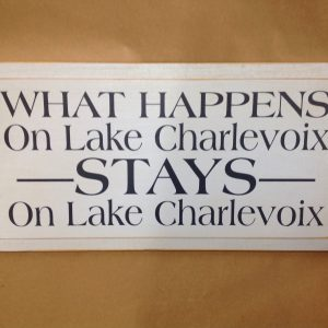 lake charlevoix sign