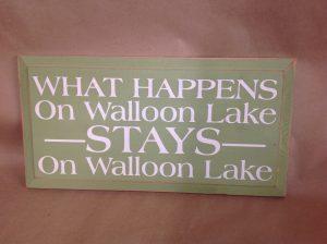 walloon lake sign