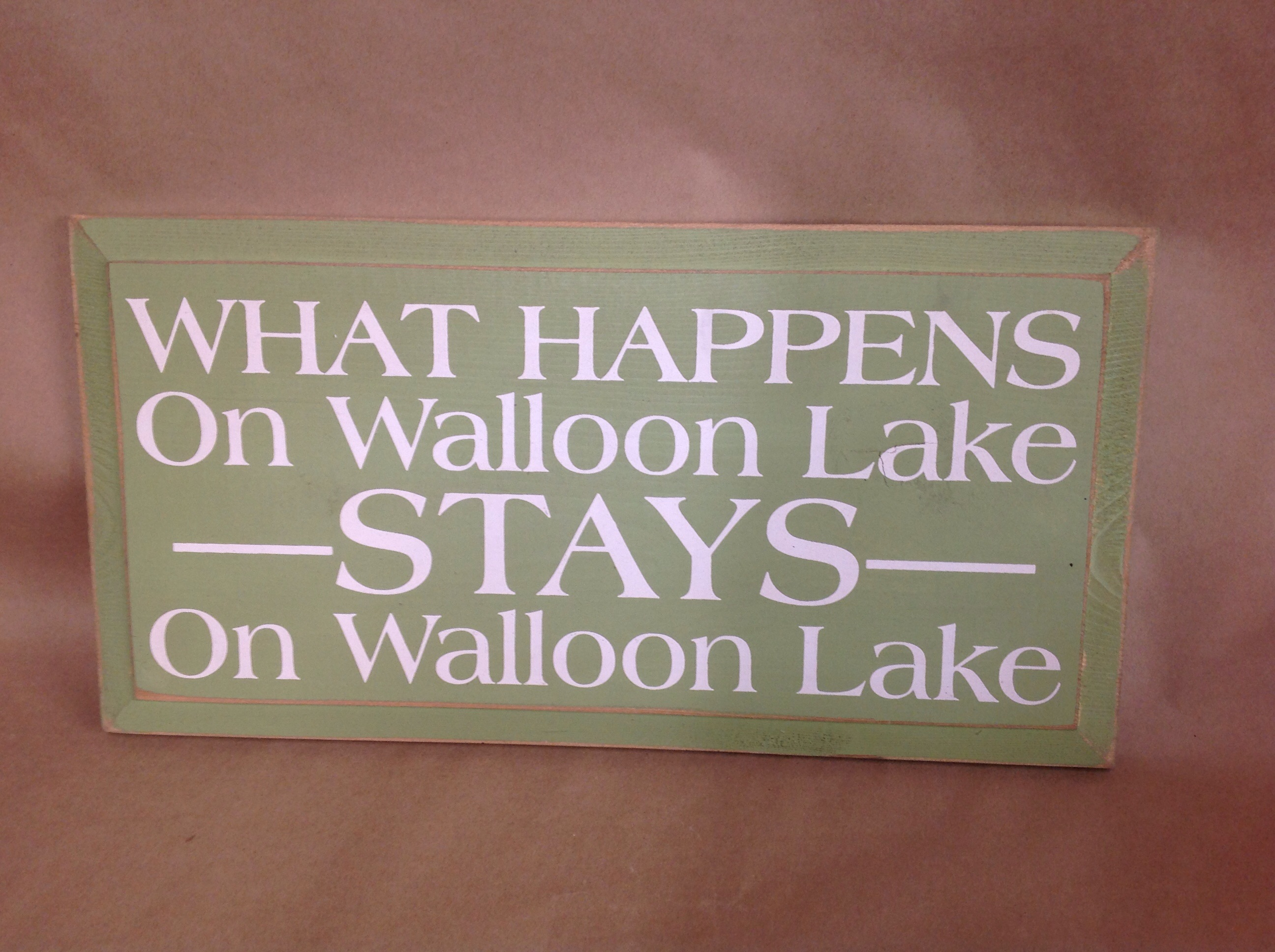walloon lake sign