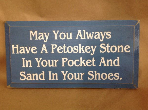 petoskey stone sign