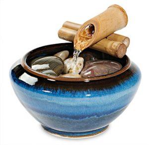 pottery desk fountain bamboo