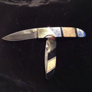 Petoskey stone lock back knife