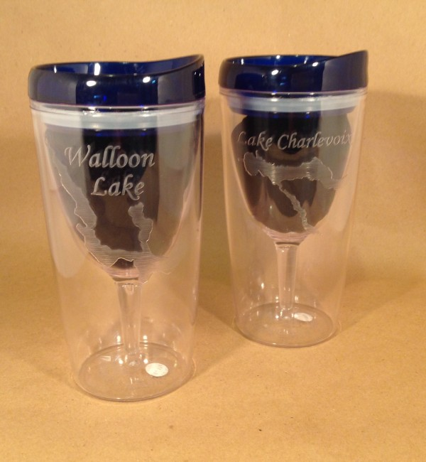Wine 2 Go tervis wine glass walloon lake lake charlevoix