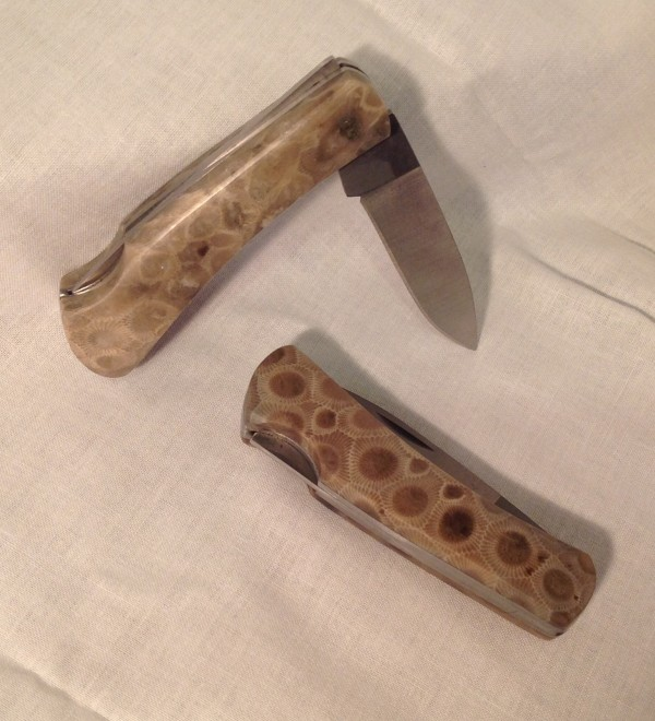 Petoskey Stone Pocket Knife