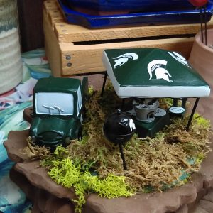 michigan state msu fairy garden set