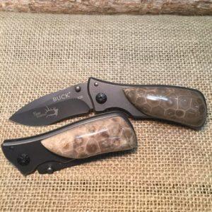 petoskey stone buck folding knife