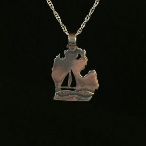Sterling silver Michigan necklace