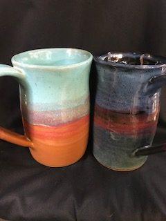 pottery beer mug