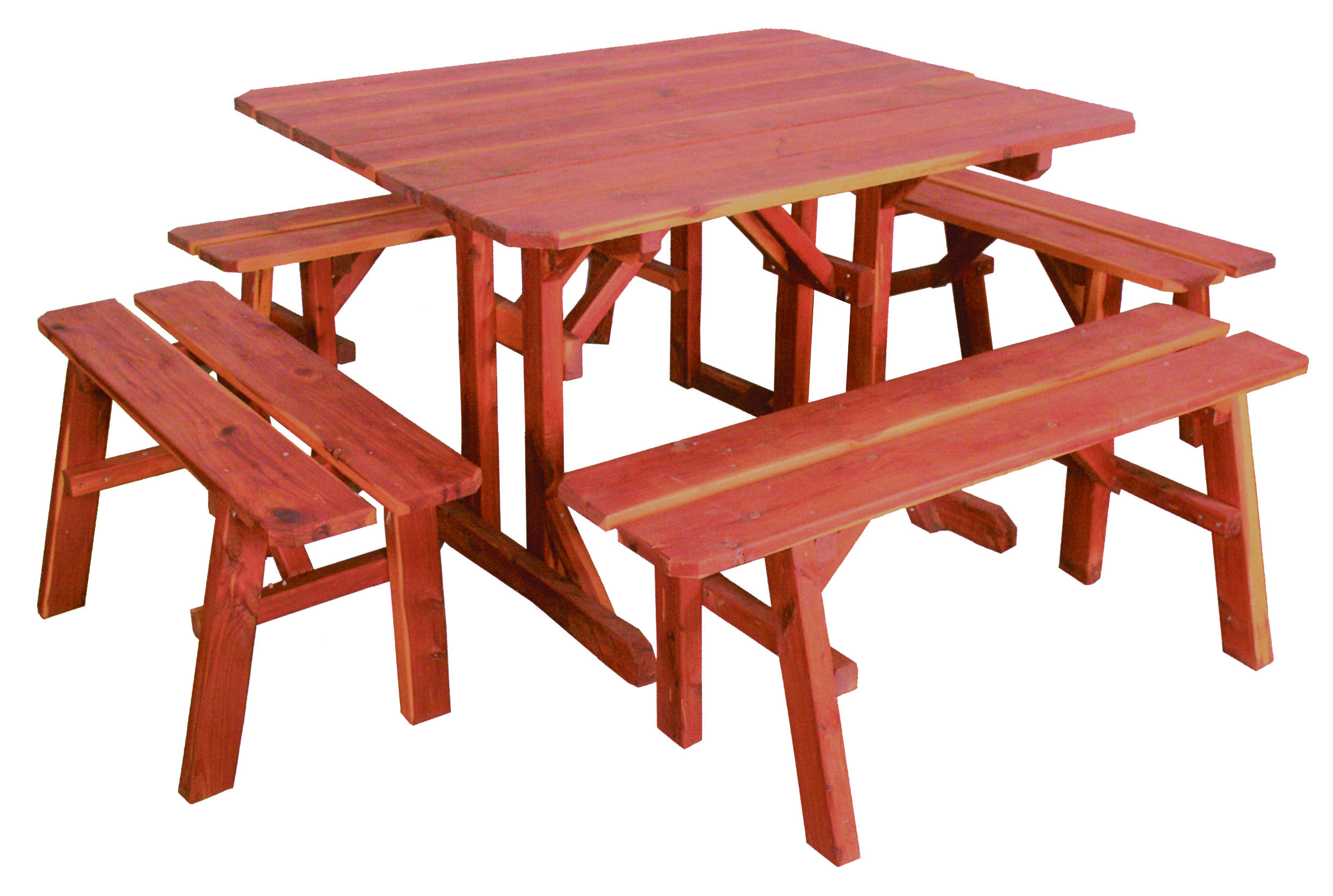 Rustic Red Cedar Picnic Tables - Sturgeon River Pottery ...