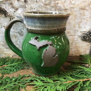 Green Michigan Mug