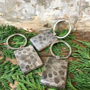 Petoskey Stone Keychain